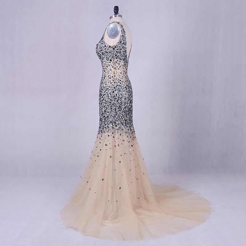 Pakaian malam mewah 2019 LORIE Perak kelabu perak manik pakaian prom - Gaun acara khas - Foto 4