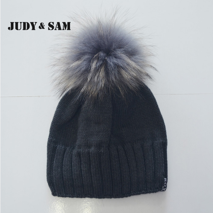 3-7 Years Boys Warm Winter Knit Beanie Hat with Genuine Raccoon Fur Bobble Pompom On Top Caps For Girls Boys Lining Inside Hat new star spring cotton baby hat for 6 months 2 years with fluffy raccoon fox fur pom poms touca kids caps for boys and girls