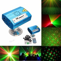 X Mas Mini Bluetooth LED Stage Light R G Laser Stage Lighting Effect USB SD Projector