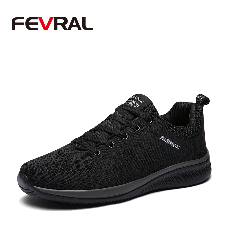 FEVRAL Hot Sale Summer Lightweight Sneakers Fashion Famous Lace-up Style Men Shoes Comfortable Casual Style Men Sneaker Footwear