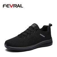 FEVRAL/Лидер продаж, летние легкие кроссовки, модные знаменитые мужские туфли на шнуровке, удобные повседневные мужские кроссовки