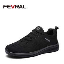 FEVRAL Hot Sale Summer Lightweight Sneakers Fashion Famous Lace-up Style Men Shoes Comfortable Casual Style Men Sneaker Footwear(China)