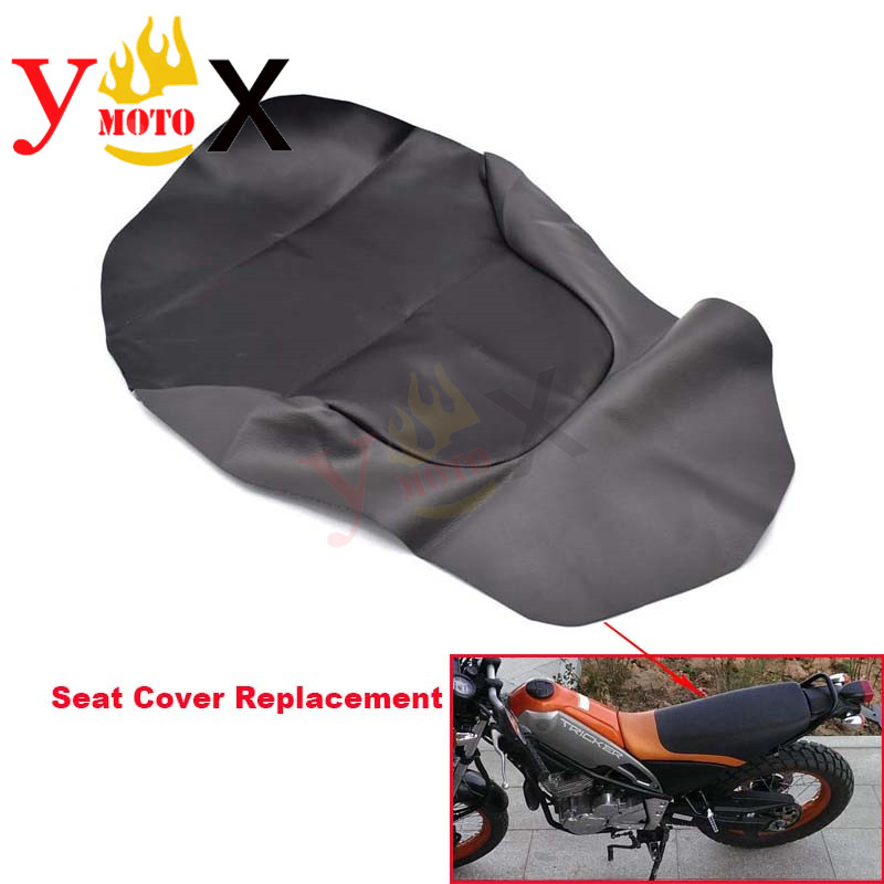 Black PU Leather Off Road Dirt Bike Motorcycle Seat Cover Cushion Waterproof For Yamaha Tricker XG250 XG 250