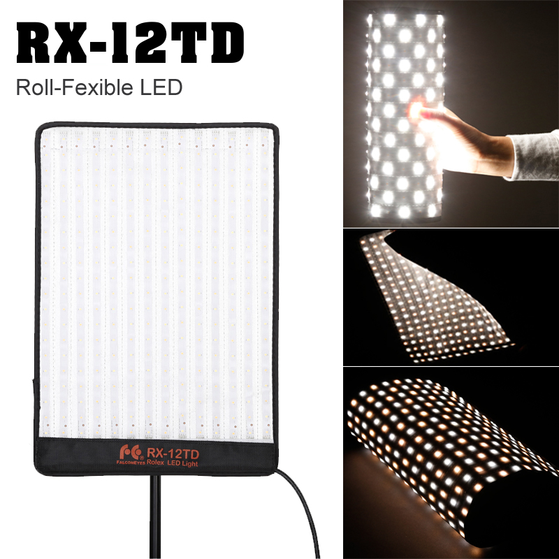 Falcon Eyes 50W Photo Light Waterproof Portable LED Photo Light 280pcs Flexible LED Photo Panel Light Mat Lamp RX-12TD цена