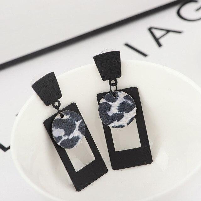 2017 Fashion Women Leopard Drop Earrings High Quality Designer Chandelier Vintage Bijoux