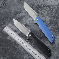 CH original D2 steel folding knife G10 handle ball bearing tumbling outdoor camping hunting fishing pocket EDC tool 3507