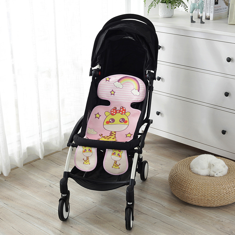 Strollers Accessories Obedient Baby Stroller Mattress For Pram Cart Padding Liner Car Seat Pad Infant Pushchair Stroller Mat Cotton Cartoon Seat Cushion Activity & Gear