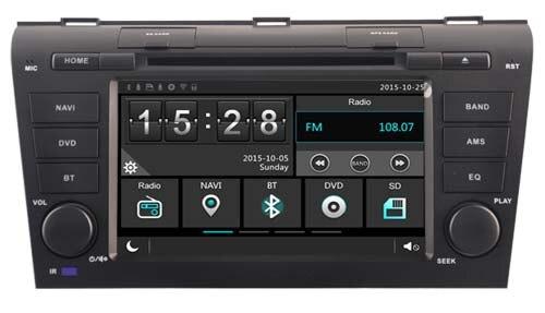Lecteur dvd de voiture pour MAZDA 3 MAZDA3 2004 2005 2006/1080 P/DVR/3G/WIFI/TPMS/GPS/RADIO/bluetooth/navi citroën c-crosser Peugeot 4007
