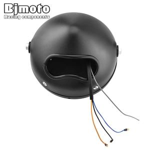 "Image 5 - 할리 Sportster 카페 레이서 Bobber 6.5 ""오토바이 LED 헤드 라이트 Hi & Lo 헤드 램프 전구 DRL 천사 반지"