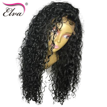 Elva Hair 250% Density Lace Front Human Hair Wigs For Black Women Pre Plucked Natural Hairline Brazilian Remy Hair Curly Wigs