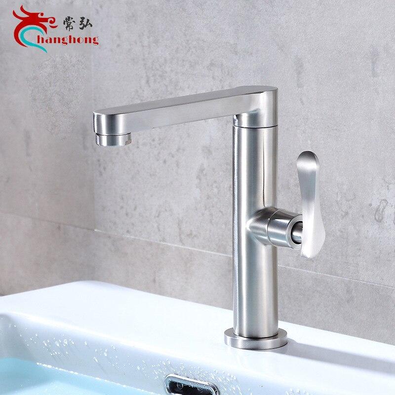 304 robinet de lavabo en acier inoxydable