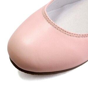 Image 5 - แฟชั่นผู้หญิงใหม่ Buckle Mary Jane รองเท้าแบน Gril สบายๆรอบ Toe หวานบัลเล่ต์แบนสายรัดข้อเท้าขนาดใหญ่ 31 32 33 42