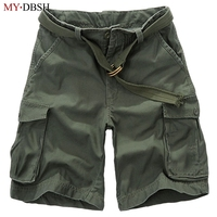 Free Shipping Summer 2017 Hot Sell Mens Multi Pocket Baggy Camouflage Cargo New Style Fashion Shorts