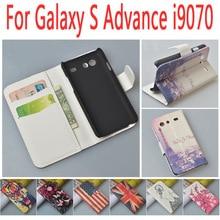Кожаный чехол для Samsung Galaxy S Advance I9070 откидная крышка корпуса для Samsung sadvance я 9070 мобильный телефон чехлы