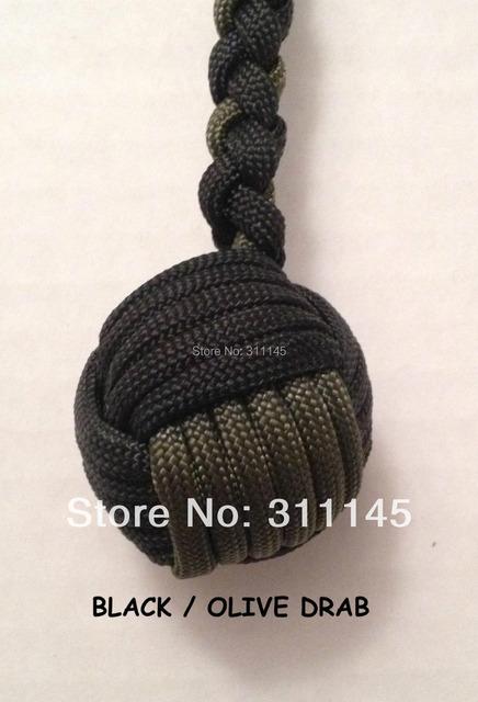 Autodefensa - núcleo de Metal - Camo mono puño llavero Ball-550 acollador de Paracord