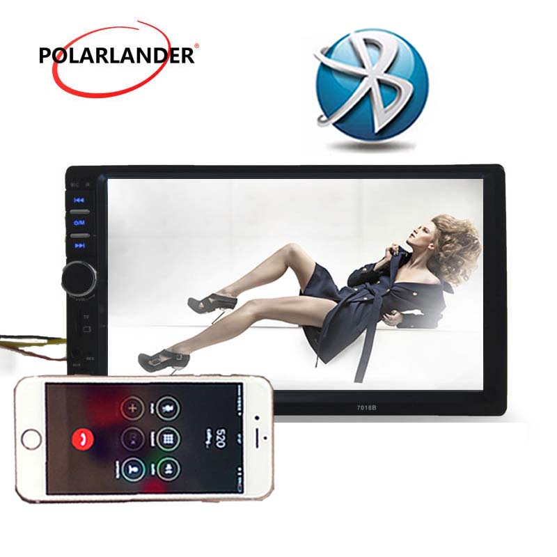 Car Radio Player Bluetooth 2 Din Car Audio LCD Touch Screen 7 Inch Optional 170 degree CCD rearview camera Mirror Link