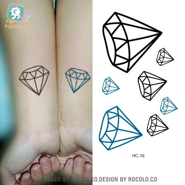 5 Pcs Waterproof Tattoo Of Male And Female Small Fresh Tattoo Tattoo