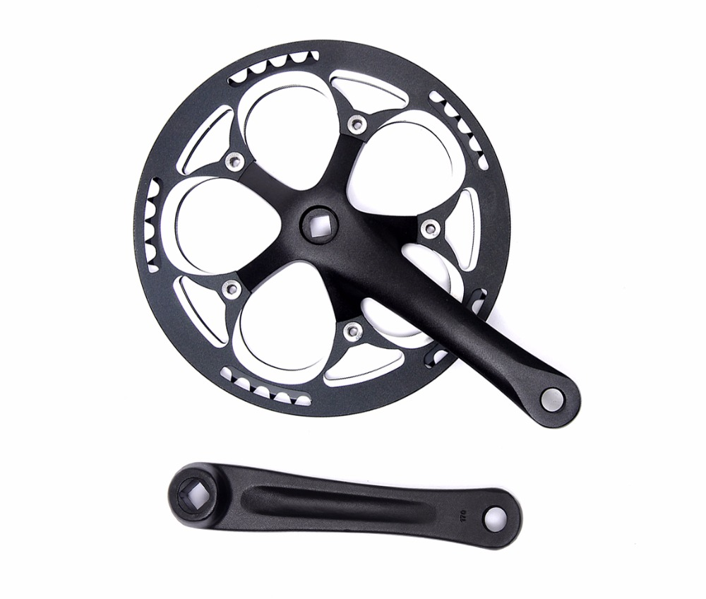 bike Crankset Bicycle Parts mountain bike BMX Cranks chain wheel BCD130mm square hole 52T single speed MTB chainwheel taiwan ota 60t bicycle crankset aluminum alloy road dead fly bike chainwheel ultralight bike cycling chainring bike cranks parts