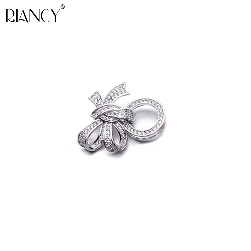DIY Jewelry Accessories Multi row bow knot micro inlaid