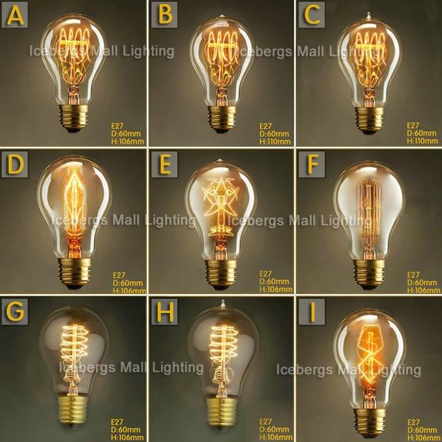 Vintage Edison Incandescent Light Bulb Aw W W V V Decorative Lamp Bulb Firework