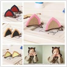 Здесь можно купить  korean cute cat ears hairpins clip kid baby girls clips for hair clip for girls accessories barrettes for children hairpin 2015  Apparel Accessories