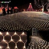 Светодио дный 8x10 м 2600 SMD светодиодные сетевые огни светильник Крытый/Открытый ландшафтное освещение Рождество Новый год гирлянды водосвето