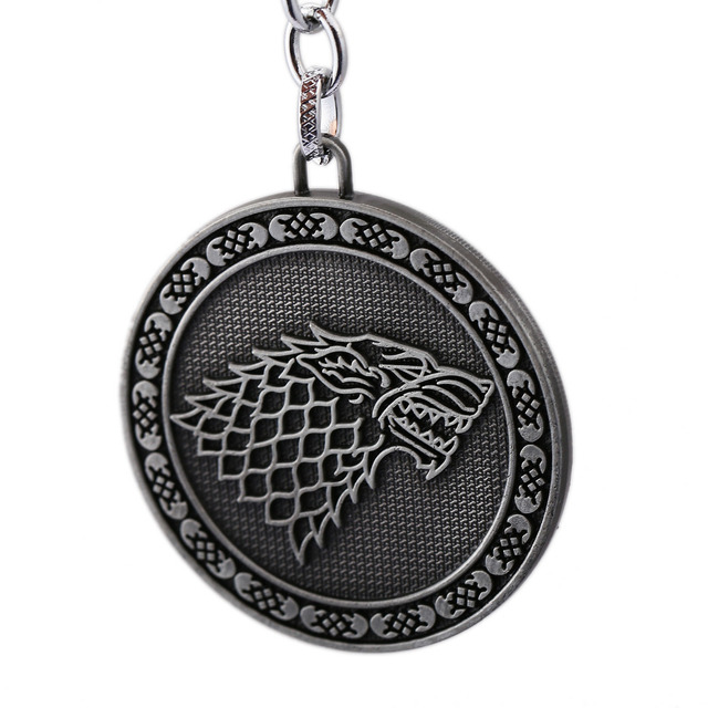 Game of Thrones Jewelry Keychain Song of Ice and Fire Stark