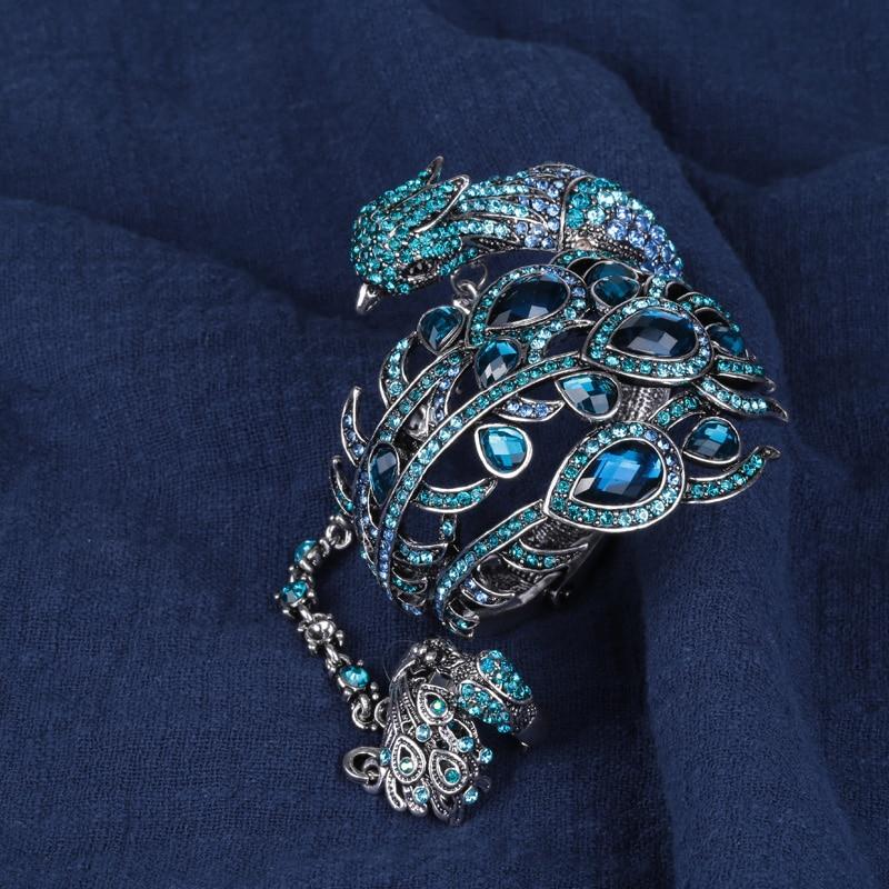 Bangle Bracelet Slave Hand Chain Attached Ring Set Women