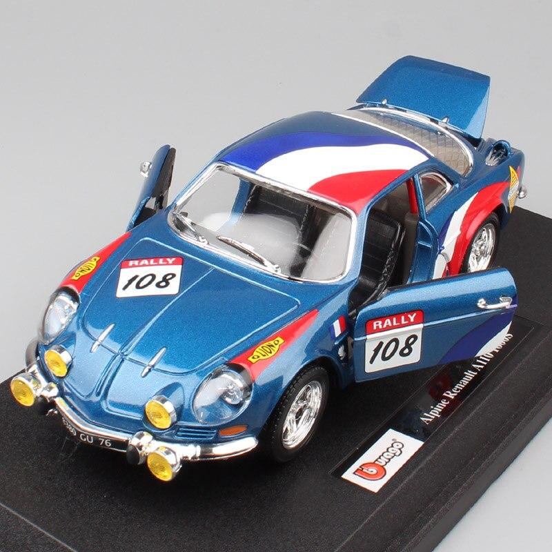 1:24 Масштаб BBurago Мини Классический RENAULT Alpine A110 1600S ралли спортивный Monte Carlo WRC литая модель игрушечная машинка для мальчиков коллекция