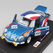 1:24 Scale BBurago Mini classic RENAULT Alpine A110 1600S Rally sports Monte Carlo WRC diecast model toy car for boys collection