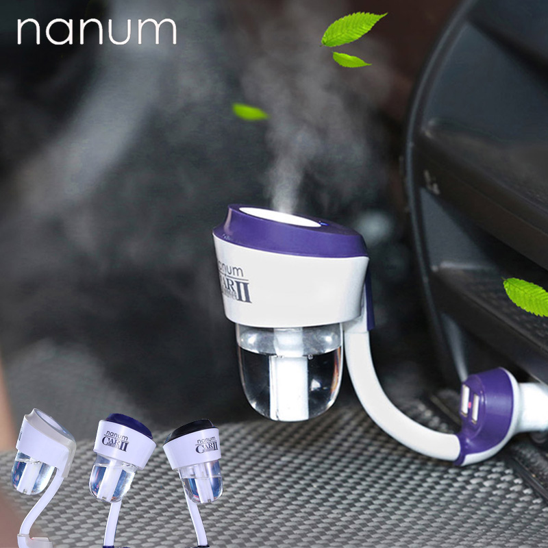 12V II Car Air Humidifier With 2 USB Car Charger Ports Car Air Freshener Purifier Aroma Oil Diffuser Aromatherapy Mist Fogger
