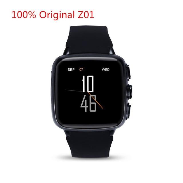 Z01 Bluetooth Android 5.1 Smart Watch 1 GB RAM 8 Г ROM Wi-Fi GPS СИМ Камеры GPS Heart Rate Monitor Наручные Часы Для iOS Android