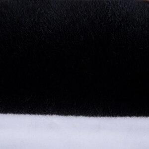 Image 3 - كاوسن العالمي فرو الأرنب الصناعي غطاء مقعد ، لطيف اكسسوارات السيارات الداخلية وسادة السيارة التصميم ، أفخم أسود غطاء مقعد السيارة s FFFC03