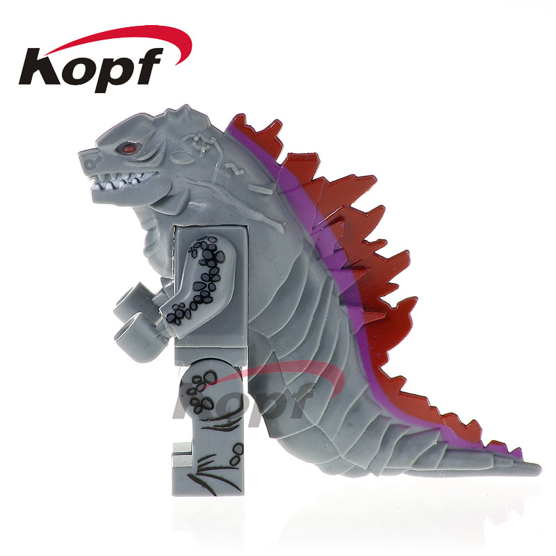 Single Sale American Science Fiction Monster Movie Black Godzilla Bricks Super Heroes Building Blocks Chidren Gift Toys PG1166