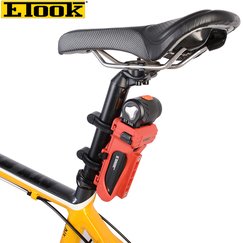 Etook ET350 Aluminum Alloy Body Bike Anti-theft Folding Lock 750mm FlipLock Bicycle Locks Cycling Accessories, 3 Colors Level 3