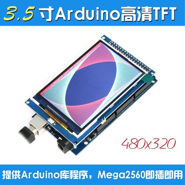 ¡Envío gratis! Módulo de pantalla LCD TFT de 3,5 pulgadas Ultra HD 320X480 para Arduino + MEGA 2560 R3, placa con cable usb