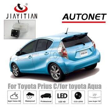 цена на JIAYITIAN Rear View Camera For Toyota Prius C/for toyota Aqua CCD Night Vision Reverse Camera license plate camera backup camera