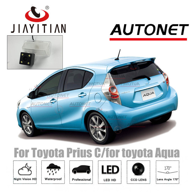 US $21 6 25% OFF JIAYITIAN Rear View Camera For Toyota Prius C/for toyota  Aqua CCD Night Vision Reverse Camera license plate camera backup camera-in