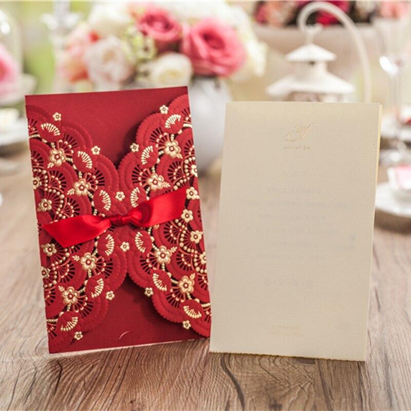 silk box wedding invitations indian%0A     Pieces lot Vintage Customized Wedding Party Event Free Envelope Unique  Design Laser