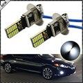 2 unids Nuevo Estilo 6500 K HID Xenon Blanco 24-SMD-4014 Reemplazo H3 LED Bombillas Para Luces de Niebla Del Coche, Luces de circulación Diurna, DRL Lámparas