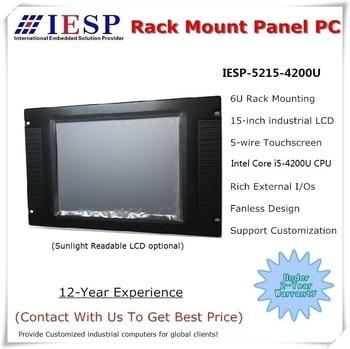15 inch Rack Mount Panel PC, Core i5-4200U CPU/4GB RAM/500GB HDD, Inudstrial touch panel pc, 15 inch HMI