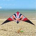 Envío de la alta calidad 3.3 m firefox doble línea cometa del truco weifang kite albatross juguetes al aire libre de surf con la línea de mango rojo zorro