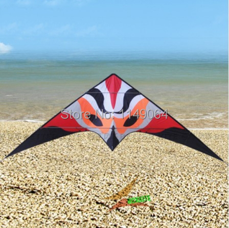 free shipping high quality 3.3m firefox dual line stunt kite surf with handle line weifang kite outdoor toys albatross red fox