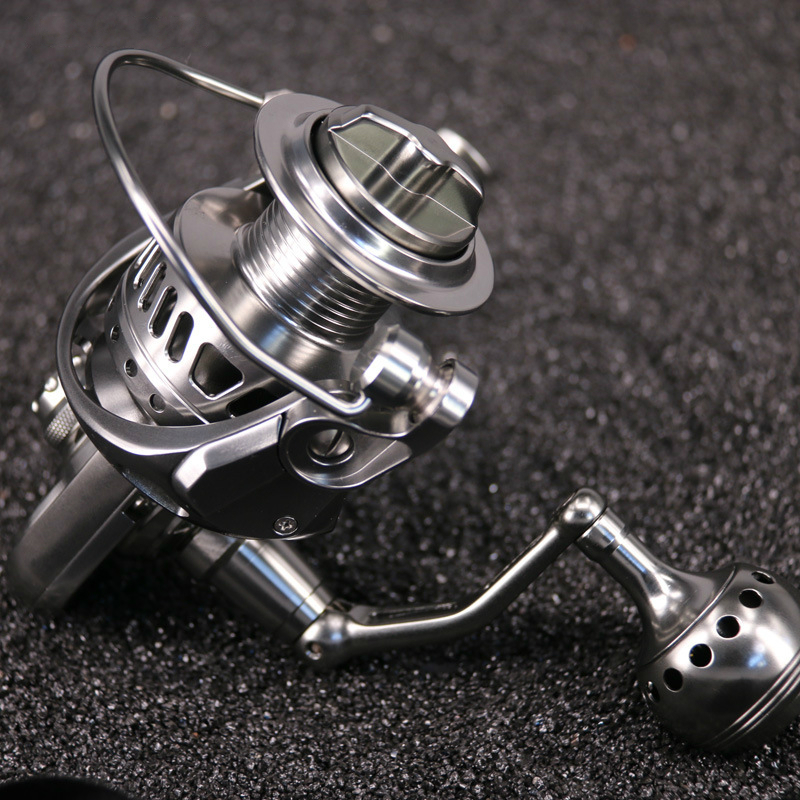 Full Metal Spinning Fishing Reel 11+1BB Stainless Gear 3000H 4000 5000 6000 CNC Technology Carbon Textile Brake Saltwater Reel