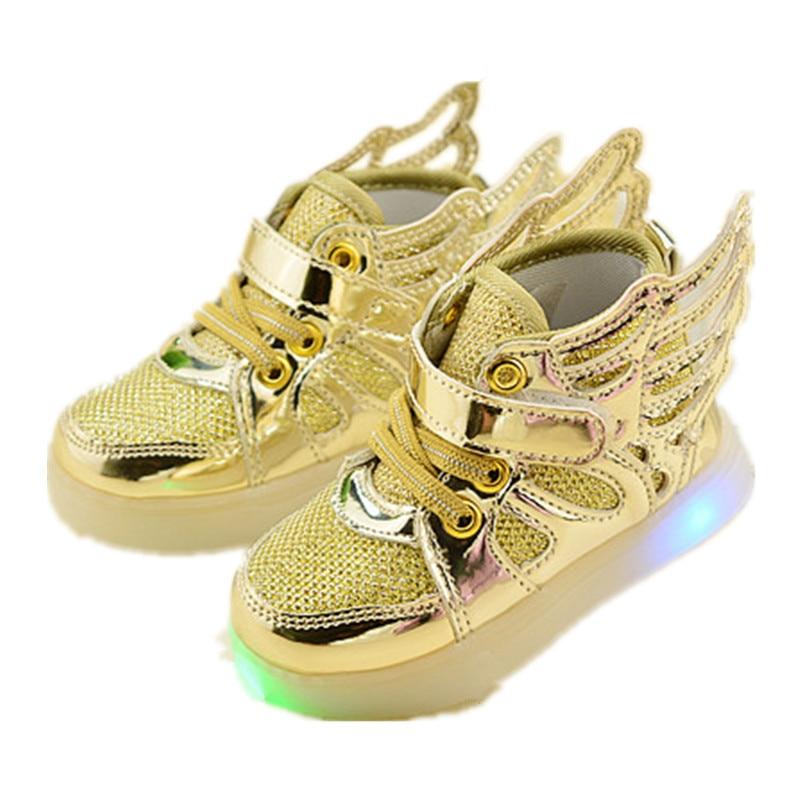 adc776de0 الربيع الخريف الأطفال led أحذية رياضية تنفس شبكة الفتيان حذاء رياضة أحذية  خفيفة الجناح ضوء الاطفال أحذية CS242
