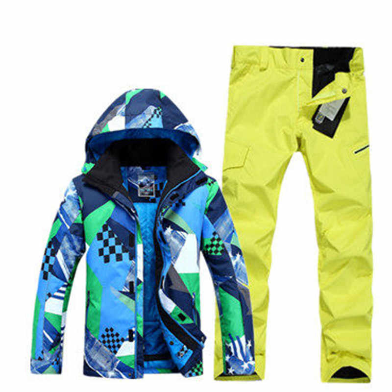 014da7c71b ... GSOU SNOW Brand Ski Suit Men Ski Jacket Snowboard Pants Sets Winter  Mountain Skiing Suits Outdoor