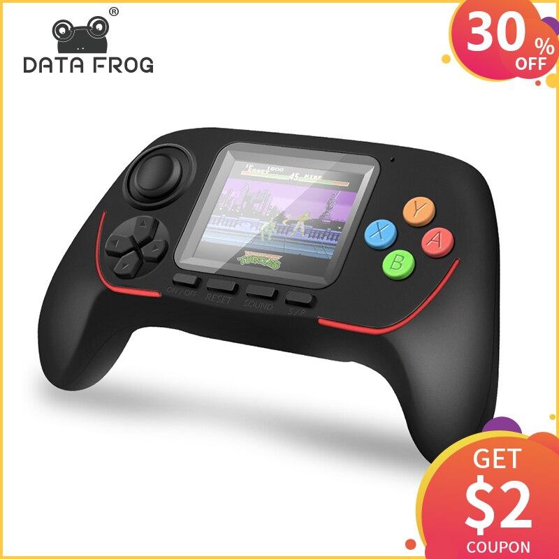 Dados Sapo Portable Video Game Console Handheld Consolas de jogos para a TV Out Colocar 4.3 Tela Com MP4 Polegada/WAV /Câmara de vídeo Multimídia