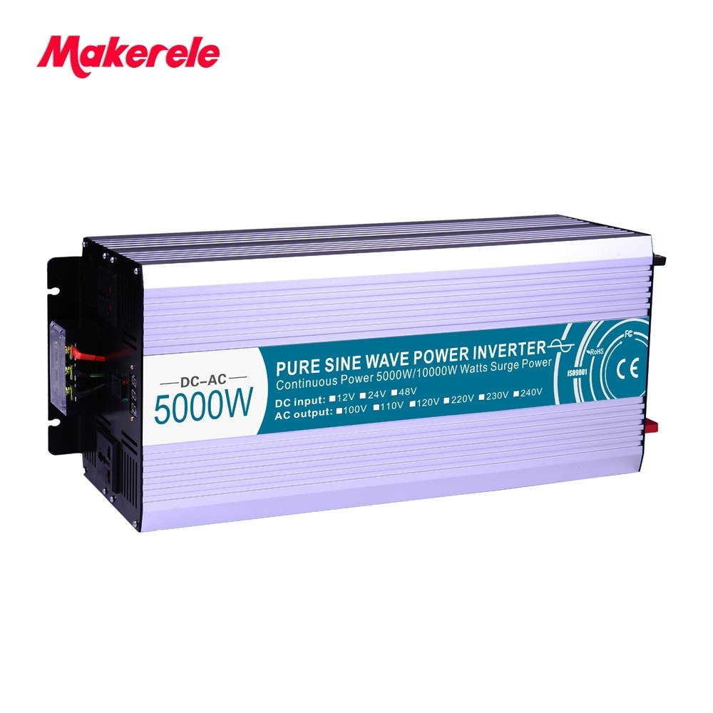 цена на 48V to 220V 230V pure sine wave inverter 5000w Solar Power (Peak 10000W) USB 5V 500mA voltage converter MKP5000-482