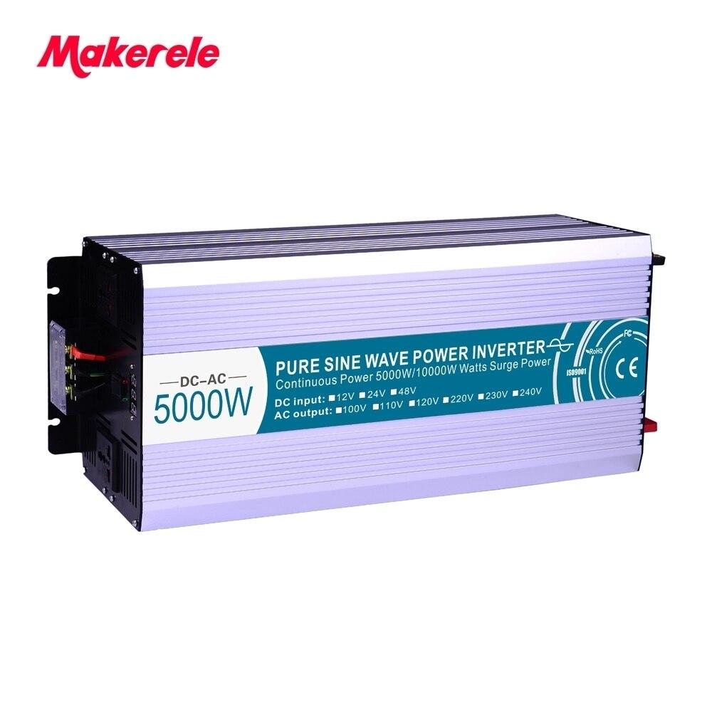 48V to 220V 230V pure sine wave inverter 5000w Solar Power (Peak 10000W) USB 5V 500mA voltage converter MKP5000 482