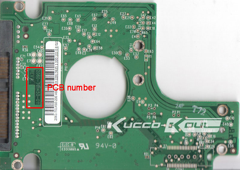 HDD PCB Logic Board 2060-701450-011 REV A For WD 2.5 SATA Hard Disk Drive Repair Data Recovery